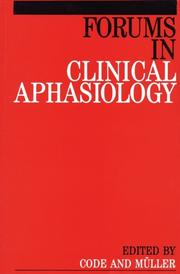 Cover of: Forums In Clinical Aphasiology