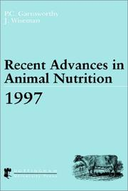 Cover of: Recent Advances in Animal Nutrition 1997 (Recent Advances in Animal Nutrition) |