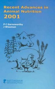Cover of: Recent Advances in Animal Nutrition 2001