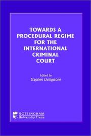 Cover of: Towards a Procedural Regime