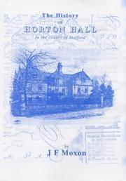 Cover of: The History of Horton Hall in the County of Stafford
