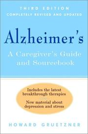 Cover of: Alzheimer's by Howard Gruetzner