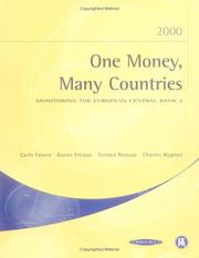 Cover of: One Money, Many Countries 2000: Monitoring the European Central Bank 2 (Monitoring the European Central Bank)