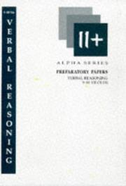 Cover of: Verbal Reasoning Preparatory Papers for 9-10 Year Olds (Alpha)