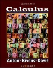Cover of: Calculus, 7th Edition, book and CD | Howard A. Anton, Irl Bivens, Stephen Davis