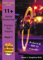 Cover of: 11+ Verbal Reasoning Test Papers