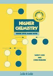 Cover of: Higher Chemistry Course Notes