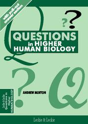 Cover of: Questions in Higher Human Biology