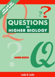 Cover of: Questions in Higher Biology