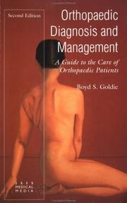 Cover of: Orthopaedic Diagnosis And Management.