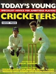 Cover of: Today's Young Cricketers (Quiller Young Player Series)