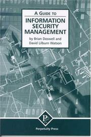 Cover of: A Guide to Information Security Management