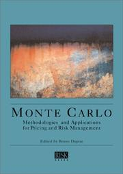 Cover of: Monte Carlo Methodologies and Applications for Pricing and Risk Management