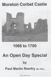 Cover of: Moreton Corbet Castle, 1066 to 1700
