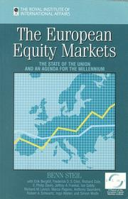 Cover of: The European Equity Markets: The State of the Union and an Agenda for the Millennium
