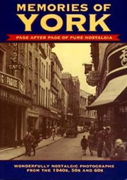 Cover of: Memories of York (Memories)