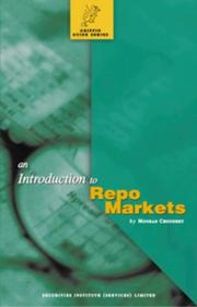 Cover of: Introduction to Repo Markets (Griffin Guides)