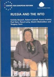 Cover of: RUSSIA AND THE WTO; KATINKA BARYSCH...ET AL