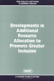 Cover of: Development in Additional Resource Allocation to Promote Greater Inclusion