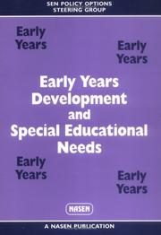 Cover of: Early Years Development and Special Educational Needs