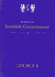 Cover of: The Directory of Scottish Government (Directory of Northern Ireland Government)