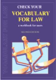 Cover of: Check Your Vocabulary for Law (Check Your Vocabulary)