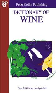 Cover of: Dictionary of Wine