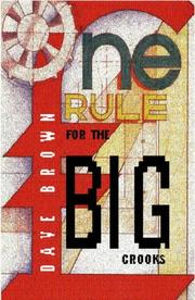Cover of: One Rule for the Big Crooks