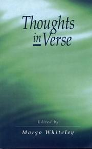 Cover of: Thoughts in Verse