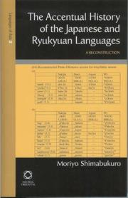 Cover of: The Accentual History Of The Japanese And Ryukyuan Languages