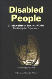 Cover of: Disabled People: Citizenship & Social Work