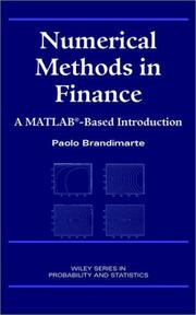 Cover of: Numerical Methods in Finance