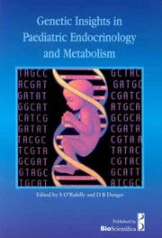 Cover of: Genetic Insights In Paediatric Endocrinology And Metabolism
