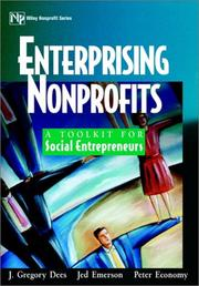 Cover of: Enterprising Nonprofits | J. Gregory Dees
