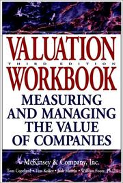 Cover of: Valuation workbook