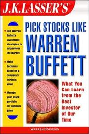 Cover of: J.K. Lasser's pick stocks like Warren Buffett