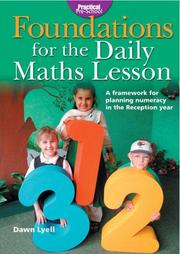 Cover of: Foundations for the Daily Maths Lesson (Practical Pre-school)