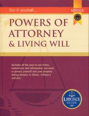 Cover of: Powers of Attorney and Living Will Guide (Law Pack Guide)