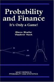 Cover of: Probability and Finance | Glenn Shafer