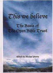 Cover of: This We Believe