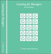 Cover of: Coaching for Managers