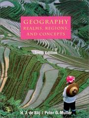Cover of: Geography: realms, regions, and concepts