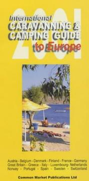 Cover of: International Caravanning and Camping Guide to Europe 2001