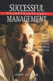Cover of: Successful Entrepreneurial Management
