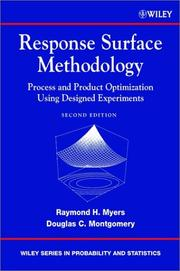 Cover of: Response surface methodology | Raymond H. Myers