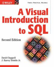 Cover of: A Visual Introduction to SQL