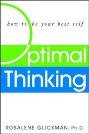 Cover of: Optimal thinking | Rosalene Glickman