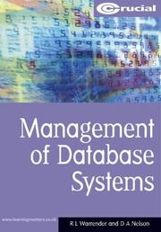 Cover of: Management Of Database Systems