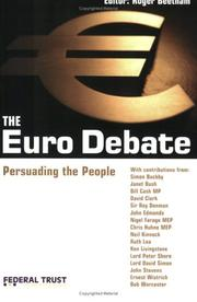 Cover of: Euro Debate: Persuading People