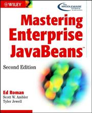 Cover of: Mastering Enterprise Javabeans | Ed Roman